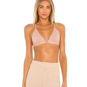 Free People Oh Scuba bralette Antique Shell M